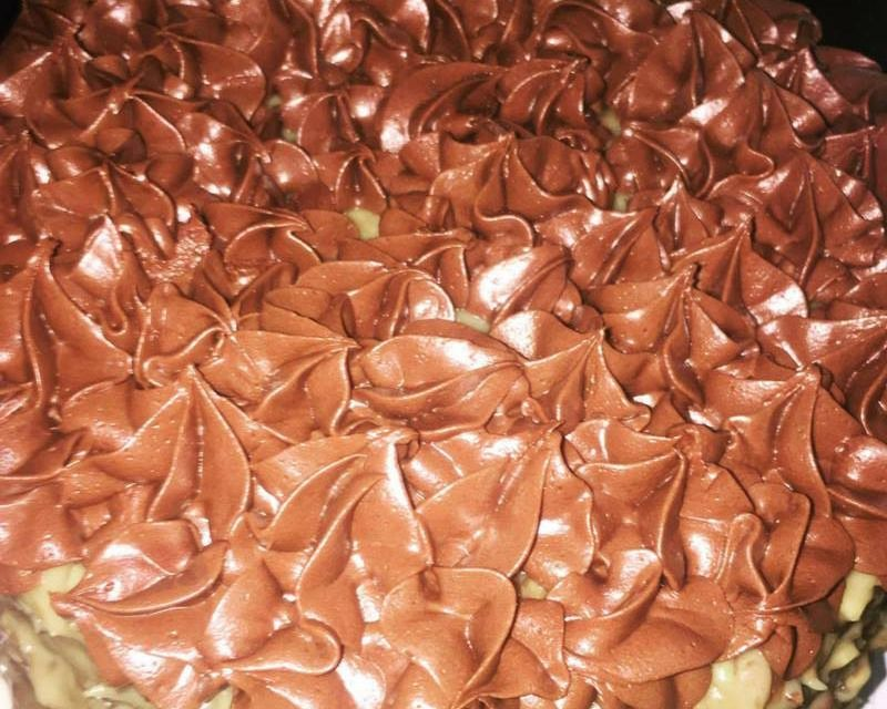 German Chocolate Cake with Chocolate Icing