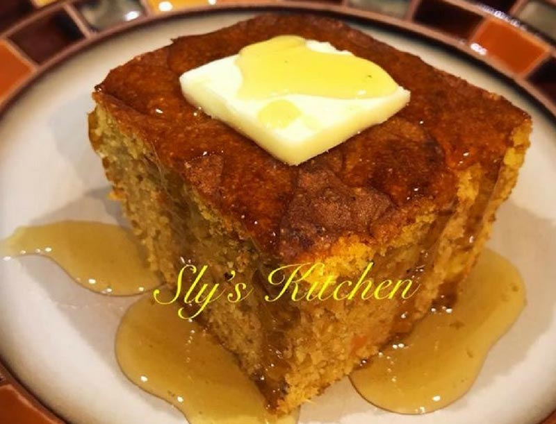 Sweet Potato Cornbread by Sly J. Miles