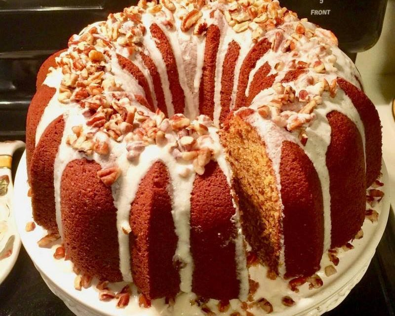 Sweet Potato Cream Cheese Pound Cake by LaSonia W. Johnson