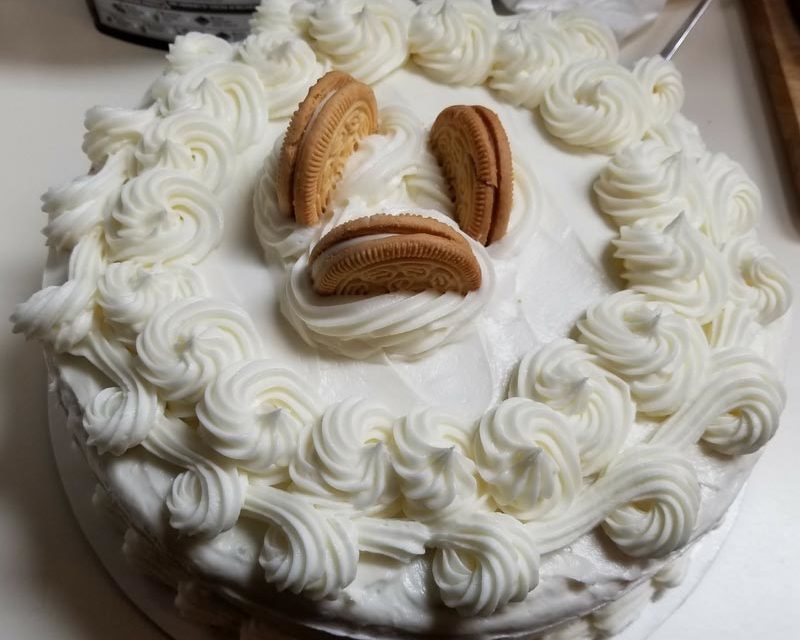 Vanilla Oreo Cake by Carolyn Burris