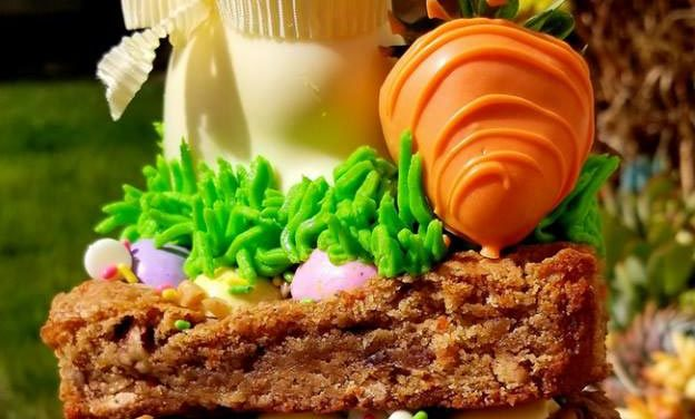 Easter Carrot Cake Blondies by Sandra Williams